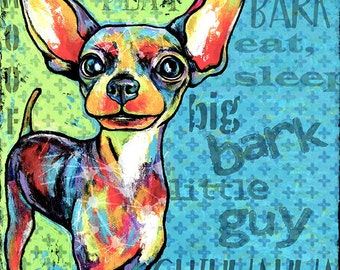 Pop Art Chihuahua 10x10 Print