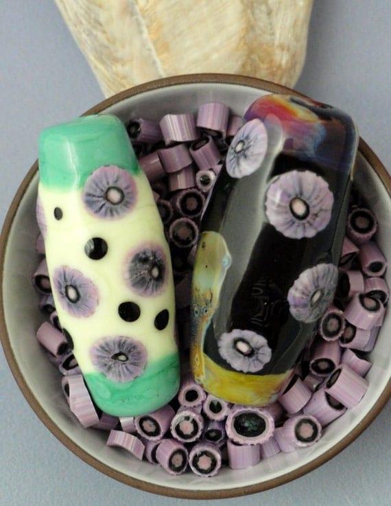 Basket Weaving Supplies Sacramento : Murrini chips coe purple haze murrine lampwork