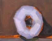 Purple Donut- Original Still Life Oil Painting