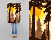 70's SHAG Sunset Wall Hanging / Tapestry