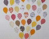 Unique Baby Gift / Balloons / Nursery Wall Decor Paper / Nursery Art Paper / Baby Shower Decorations / Game Room Decor / New Baby Gift /