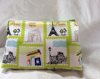 Paris Themed Cosmetic Makeup Bag