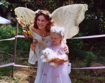 Huge Moonbeam GOLD Fairy Wings Woodland Forest Realistic Flowy Samhain Party Masquerade Magic Fall Autumn Harvest Costume Halloween dress up