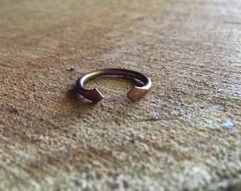 Copper Band <<Double Diamond Band>> Copper | Handmade | adjustable