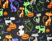 Halloween Cats and Jack O Lanterns Surgical Scrub Top / X Small - XX Large
