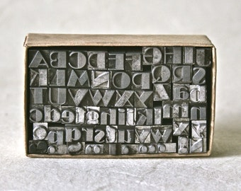 Vintage Letterpress Type 18pt Broadway for Printing Stamping and Clay Stamping