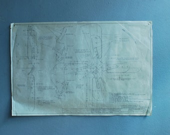 Original Drawing c. 1970's  for blueprint schematic automotive company Drawing A of series