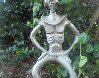space cowboy castresin indoor outdoor alien figurine limited edition collectible sculpture