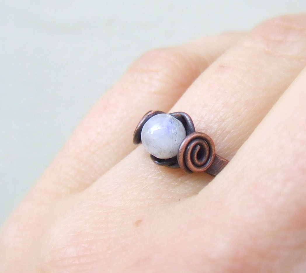 Moonstone Fertility Ring