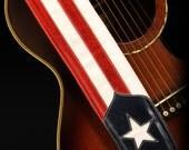 Patriotic Guitar Strap, American Flag Guitar Strap:  Old Glory Guitar Strap