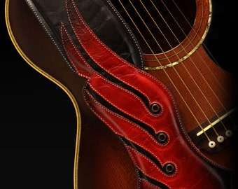 Leather Guitar Strap: Viking Guitar Strap
