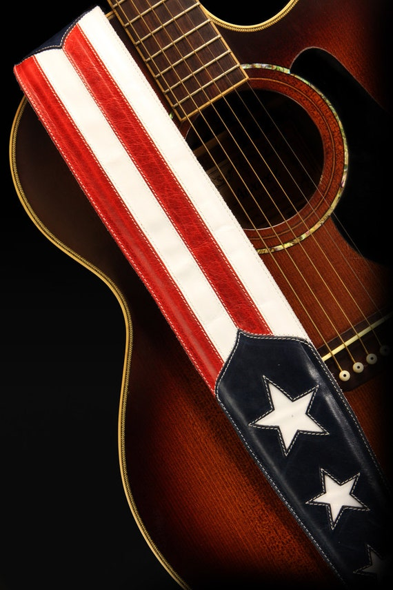 patriotic guitar strap american flag guitar by ethoscustombrands. Black Bedroom Furniture Sets. Home Design Ideas