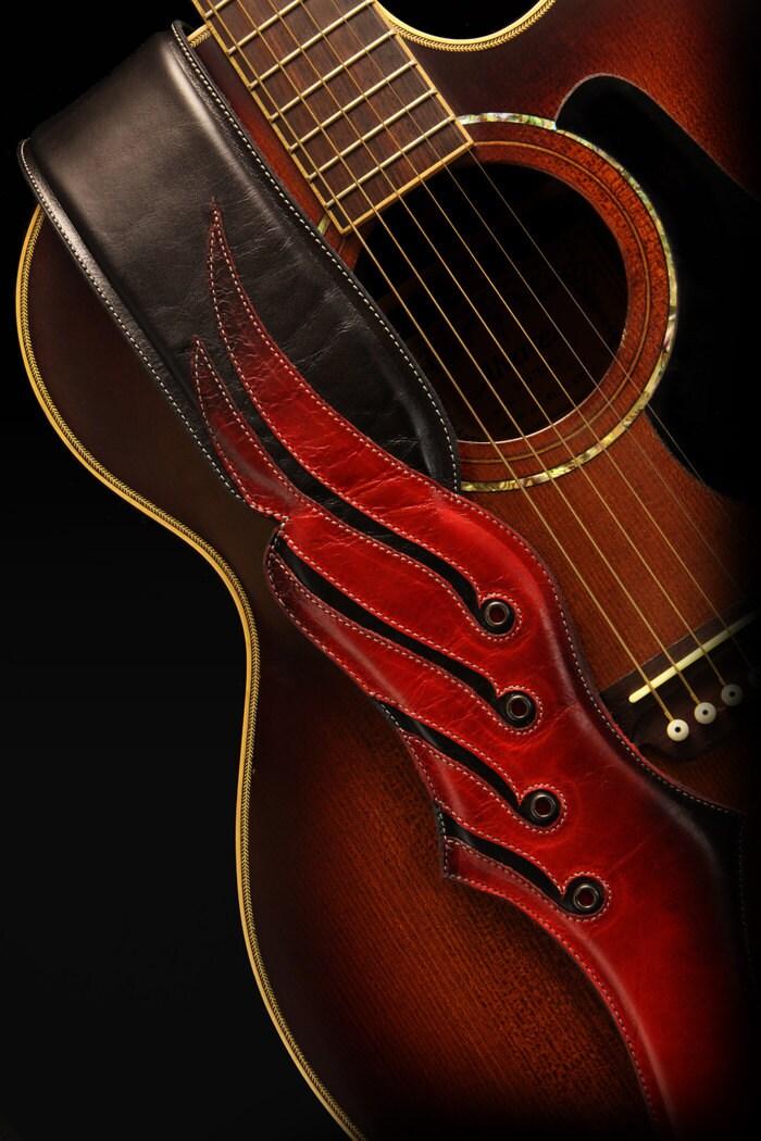 leather guitar strap viking guitar strap. Black Bedroom Furniture Sets. Home Design Ideas