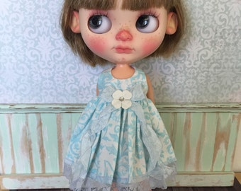 Blythe Dress - Blue Ice Floral