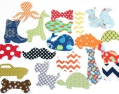 30 Assorted Baby Boy Iron On Appliques Baby Shower Activity