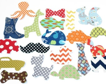 15 Assorted Baby Boy Iron On Appliques  Baby Shower Activity