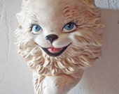 Vintage Ceramic CAT Kitten String Holder Wall Hanging
