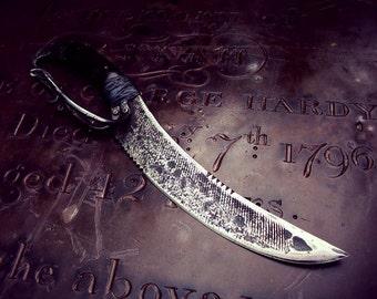 Kraken - Hand Forged Pirate Boarding knife, cutlass, dussage, short sword