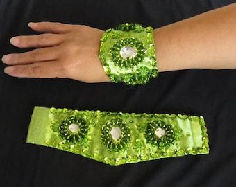 Beaded Wrist Cuff Set