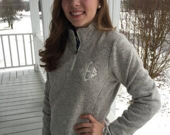 Monogrammed Heathered Fleece Pullover