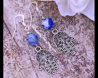 Namaste Earrings, Hansa Prayer Hand Symbol Unisex  Earrings,  Zen, Meditation, Metaphysical, Namaste, Yoga, Hindu, Buddha , By: Tranquilityy