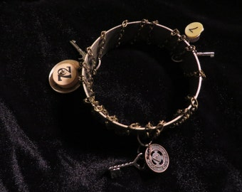 Steampunk bangle bracelet