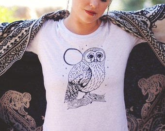 Luna Owl Relaxed Tee - Womens