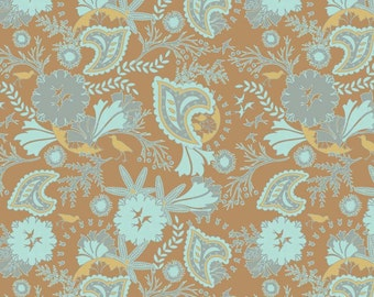 Emily Taylor for Riley Blake Designs - CHATSWORTH - Floral in Brown - Cotton Fabric