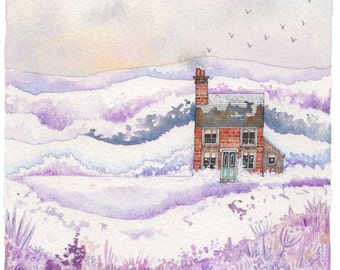 Christmas Cottage - Signed Limited Edition Giclee Print