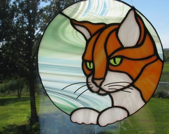 Orange Cat Suncatcher