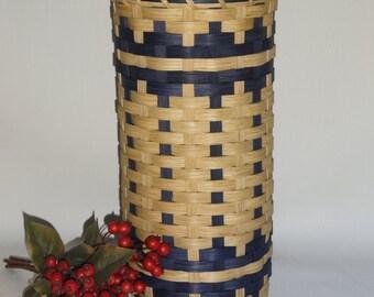 Bathroom Tissue Basket-Toilet Paper Basket-Handwoven Basket-Basket with a Lid