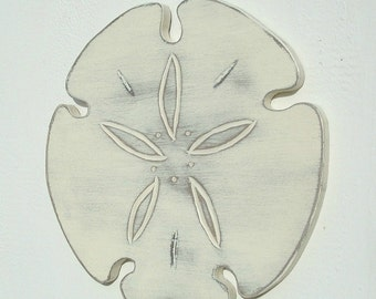 wood sand dollar wall art