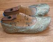US 8 / Euro 38 / UK 6.5, Pistachio Silk Slippers, #587