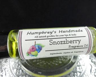 SNOZZBERRY Roll On Perfume Fragrance, Berry Perfume, Mixed Berry Scent, BPA Free Glass Bottle, Moisturizing Jojoba Oil