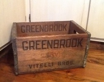 Vitelli Bros. 5v Greenbrook NJ Liquor Wood Box Early 1900's Advertising Collectible Americana