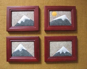 Mountain Art Mountain Nursery Decor Mountains Are Calling Mountain Wall Art Mountain Wall Decor Wall Hanging Framed Felt Mountain Tapestry