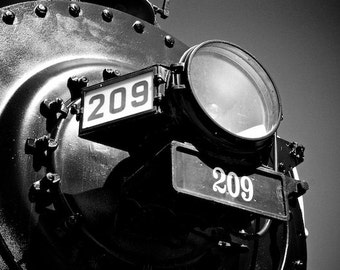 Old Train Photo, Art Boy's Room, Train Themed Wall Decor, Railroad Crossing Themed Art, Black and White Photography