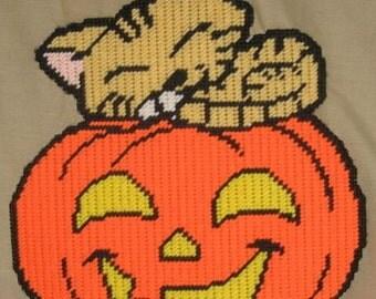 Halloween Nap Plastic Canvas Pattern