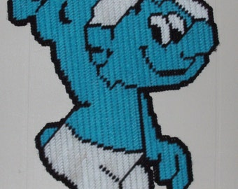 Smurf Plastic Canvas Pattern