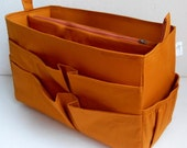 Extra Tall XL size Purse organizer - Bag organizer insert in Mustard fabric