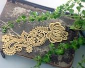 lace bracelet cuff -RACHAEL- soft saffron - soft mustard