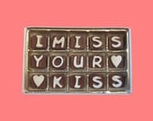 I Miss You Chocolate Message Boyfriend Girlfriend Gift Long Distance Relationship Romantic Love Gift  Men Women Miss Your Kiss Candy Letter