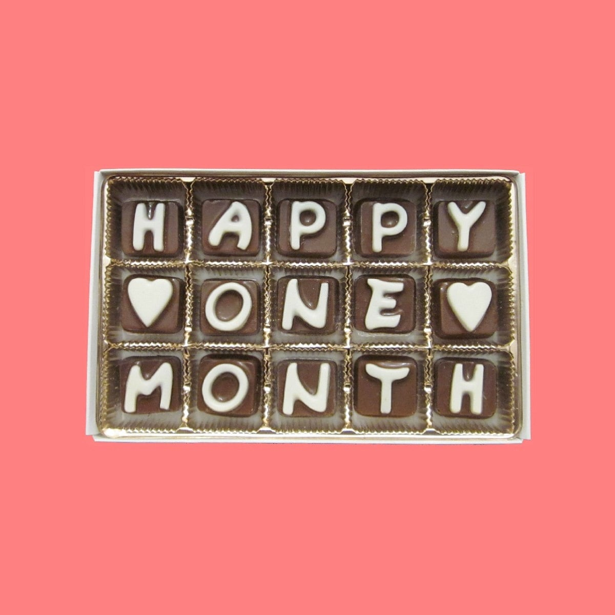 First month anniversary gift happy one 1 month cubic chocolate zoom mitanshu Gallery