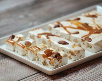 Roasted Almond  salt caramel nougat 1 pound