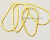 One Brushed 18kt Gold Vermeil Large Teardrop Hoop 40 x 22mm