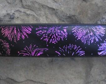 Fireworks Barrette Fused Dichroic Glass Barrette French Barrette Firework Jewelry