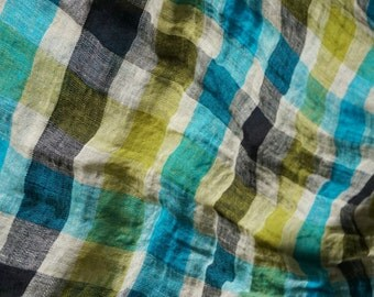 Pure linen fabric for summer--Thin--Light--Colorful--Apparel
