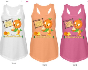 Disney World Orange Bird Sunshine Tree Terrace Tank Top Citrus Swirl | Disney Tank Top | Women's Tank Top shirt