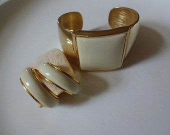 Avon The Collection Vintage Cuff Bracelet and Earrings