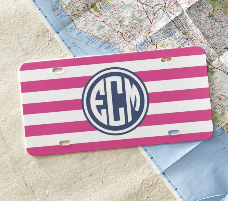 Personalized Front License Plate Monogram Car Tag Teen Gift